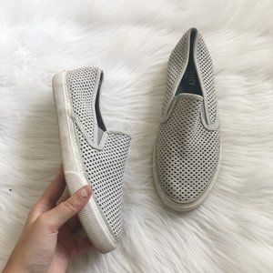 SPERRY Gray Perforated Slip On shoe SZ 7.5